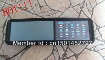 2013 hot  Car Rear view Mirror 5' GPS HD touch screen+HD DVR+Built-in radar detector+parking camera+bluetooth