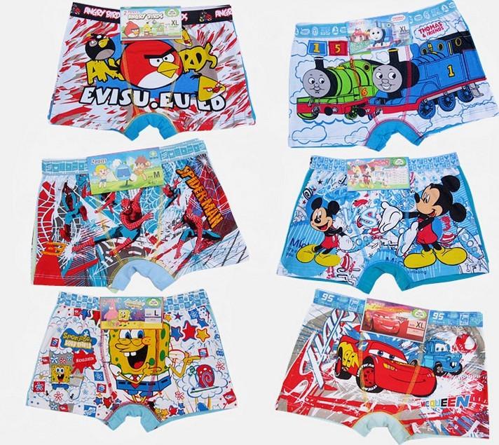 Cartoon Characters Underwear : Pieces kids underwear different styles panties boy s