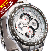 Hongkong Brand Mens Sports Watches Japan movement racing watch waterproof 100M calendar date Chronograph CASIMA 8205 full steel