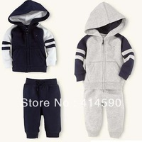 2013 new autumn.children'sclothing spring and autumn koreankidsclothingclothessuithandsome boy  sports suit1set/lotFree shipping