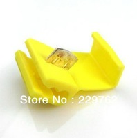 Free shipping yellow 50pcs Scotch Lock Quick Splice 12-10 AWG Wire Connector Lock Quick Quick Connector