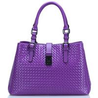 2014 Woven Vintage Fashion Work Bags Women's Genuine Leather Handbag Famous Brand women handbags Shoulder Bag free shipping