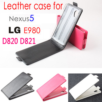 Nexus 5 Leather Case,New Hotsale Genuine Flip Leather Case for LG E980 Nexus 5 D820 D821 Protective Cover,Freeshipping
