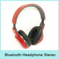 Wireless Bluetooth Headphones with Hi-Fi Stereo Music Plug Card Style FM Radio Functions Black/White/Red Headband Media