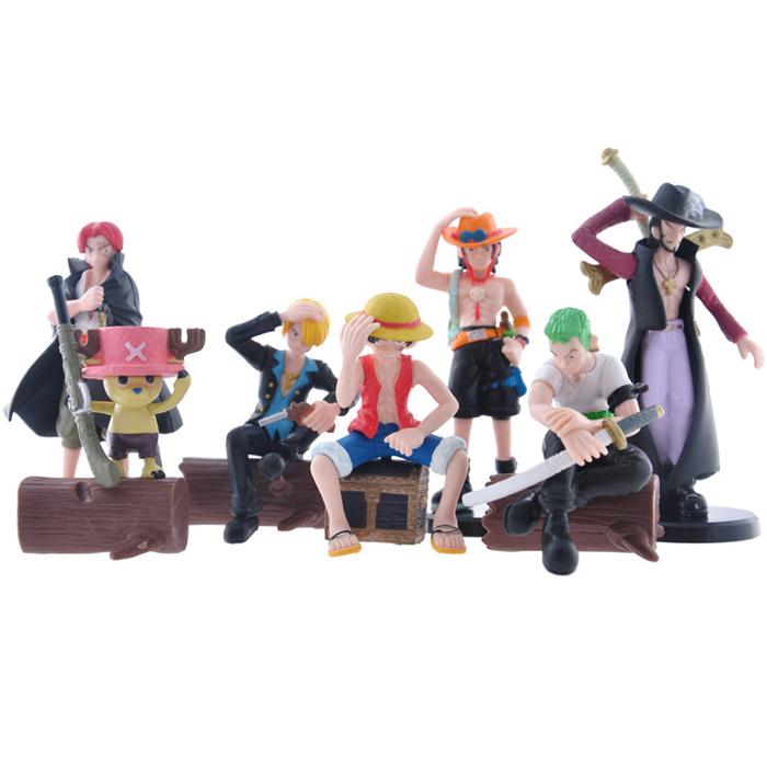 High Quality PVC Anime Generation 15 ONE PIECE Toy Action Figure 7pcs/Set Birthday Gift Decoration Craft(China (Mainland))