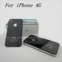 Glass Back Cover for iPhone 4 Black White Battery Door Housing Wholesale Replacement Repair Parts High Quality