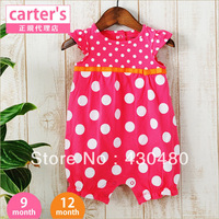2013 summer new arrival baby set Baby romper/Candy color polka dots baby romper free shipping