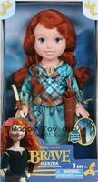 Free Shipping New Genuine Fairy Tale Princess Dolls Merida Princess Brave Merida  2 Styles Plastic Dolls For Girls