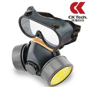 2 pcs Dual cartridge gas mask,Dual-tank piece suit gas mask,gas mask