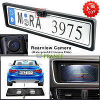 2014 New Arrival EU Russia Car License Plate Frame Holder Rear View Camera For European Cars With 4 IR Light+Waterproof IP67 OT8
