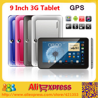 2014 High quality Cheapest 9 inch 3g Tablet PC MTK6577 Dual Core Sim Card Slot Phone Call buit in GPS FM TV Wifi Bluetooth