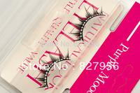 No.705 / 2 pairs fashion eyelashe with  30 pcs of man made diamonds