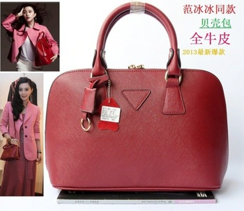 Factory Price!! Quality Guaranteed!! 2014 Fashion Real Leather Shell Bags Brand Designer Satchel Tote Bag for Women  MBL1398