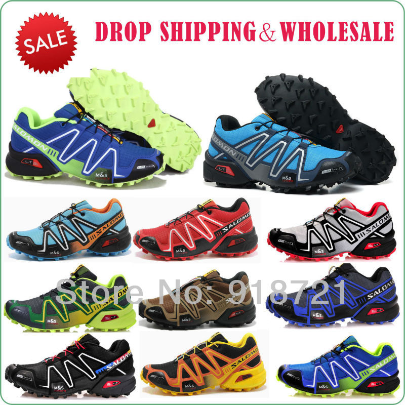 2013 new wholesale name brand Salomon men Athletic Running Shoes ,hot sale tenis designer zapatillas for men drop shipping(China (Mainland))