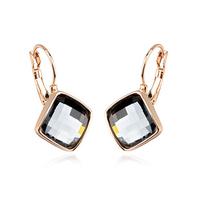 gold black crystal earrings fashion drop earrings for women brand jewelry vintage earrings for wedding