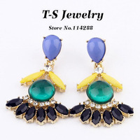 2013 Fashion New Crystal Summer Drop Earrings Bohemia Style Statement Earrings Jewelry Free Shipping