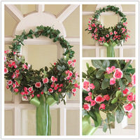 35cm Fashion artificial flower home decoration flower wedding garland decoration hangings door trim rose