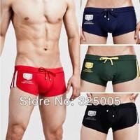 2015 Newest mens swim trunks sexy men solid color swim shorts male low rise swimwear men's bikini swimsuit man bathing trunk