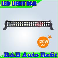 """120W 22"""" 7500lumens Combo/Flood/Spot light High Power LED WORK LIGHT BARS SUV ATV OFFROAD 10-30V 4WD 40 Epsitar LEDS"""