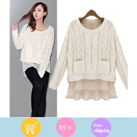 2013 women's thermal sweater shirt thickening sweater fahsion new style with free shipping