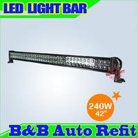 """240W,42"""" 15000lumens Combo/Flood/Spot light High Power LED WORK LIGHT BARS SUV ATV OFFROAD 10-30V 4WD 60 Epsitar LEDS"""
