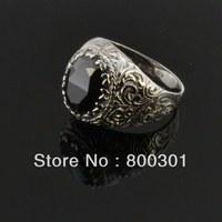31743 men's silver finger rings, trendy jewelry rings