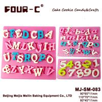 Silicone fondant alphabet mold,cake decorating mold,liquid silicone mold