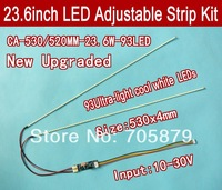 530mm Adjustable brightness led backlight strip kit,Update 23.6inch  lcd  monitor to led bakclight