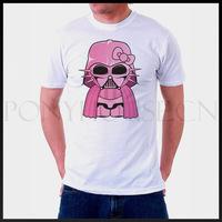 Mini Darth Vader Star Wars men cute pink logo short sleeve T-shirt new arrival Fashion Brand t shirt for men 2013 summer
