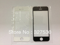Wholesale - For iPhone5 Front Outer Glass Lens Touch Screen Cover for iphone 5 repair parts black white DHL free shipping