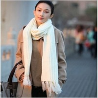 2014 shawl cachecol feminino youth  with long tassel scarf winter female knitting warm fashion adult solid >175cm  JH290