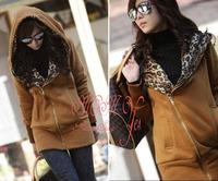 Summer -autunmn New Women's Long Sleeve Leopard Jacket Coat Warm Sweater Outerwear Casual Hoodie Sweatshirt Size S M L!