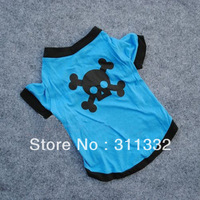 Free shipping Blue Bone Dog Skirts SPT5010 pupp T shirts pet Vest Pet Dogs Cats Cotton Printed Clothes