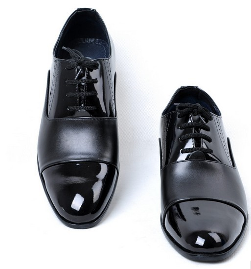 Free Shipping 2013 Fashion Bussiness Leather Shoes Men Brands Pointed Toe Leather Shoes Male(China (Mainland))