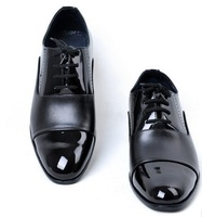 B Free Shipping 2014 Fashion Bussiness Leather Shoes Men Brands Pointed Toe Leather Shoes Male