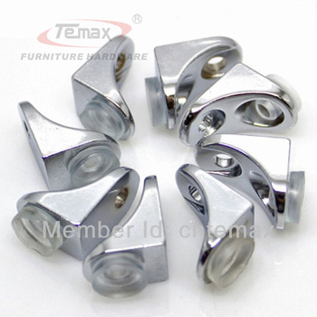 New 8 pcs Chrome F type glass shelf clamp clip support board with glass suction bracket furniture hardware