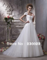 Hot sale New White/ivory A-Ling Long Tulle/Netting Backless Sweetheart Bridal Gown Wedding Dresses Custom Size Free Shipping