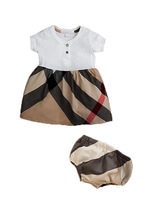 The new 2013 hot sale children summer clothing sets cotton plaid dress+ underwear 2 pieces  for the girls