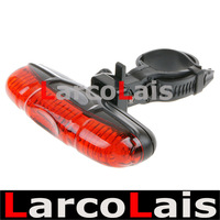 New 5 LED 3 Mode Red Cycling Bicycle Bike Caution Safety Rear Tail Strobe Warning Lamp Light Red Free Shipping