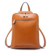 100% Guranteed Genuine leather women backpack cowhide shoulder bags (10colors)  36*30cm