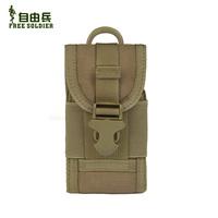 Edc tactical multifunctional mobile phone waist pack small digital camera bag cordura Color:Black/Coyote Brown/CP/ACU 14*7.5*2cm