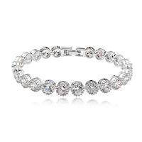 Top quality Zirconia Platinum Plated bracelet 3 colors for option