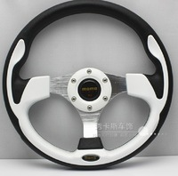 Free Shipping courier sales imitation wholesale multicolor MOMO steering wheel modified racing PU13-inch Multicolor