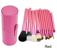Professional 12pcs Makeup Brush Set Cosmetic  Kit Set With Leather Cup Holder 16475
