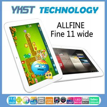 "11.6"" Andriod Tablet Allfine FINE11 Wide With 1GB/16GB Dual Cameras 2.0/5.0MP Quad Core RK3188 Bluetooth HDMI 3G Allfine tablet"