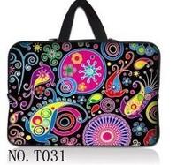 Universal carton notebook laptop sleeve laptop bag 10.1 11 11.6 12 13.3 14 15.6 17  handbag with hidden handle