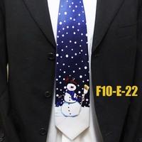 Unique Christmas Snowman Mens Neckties For Shirt Fesival Party Ties For Man Gravatas F10-E-22