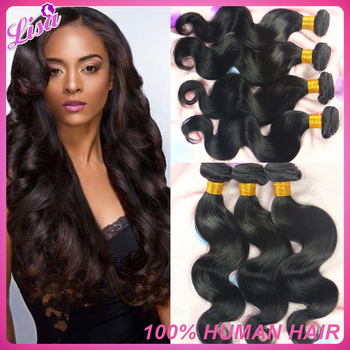 Unprocessed Virgin peruvian hair 4pcs/lot queen hair products Body wave 10''-26'' Human hair bundles Free shipping Natural color