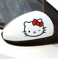 Hello kitty  car sticker - -Kitty naughty face auto decal  reflective  sticker factory drop shipping