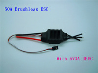 1piece 50A Brushless ESC 3A BEC 2-4S RC Speed Controller High Quality Retail & Dropshipping + Free Shipping